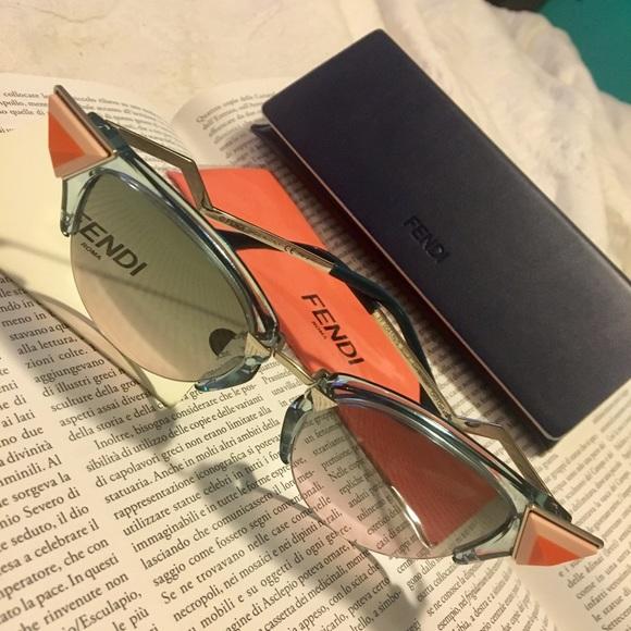 24b1a7608c7 Fendi Irida cat eye sunglasses NWC